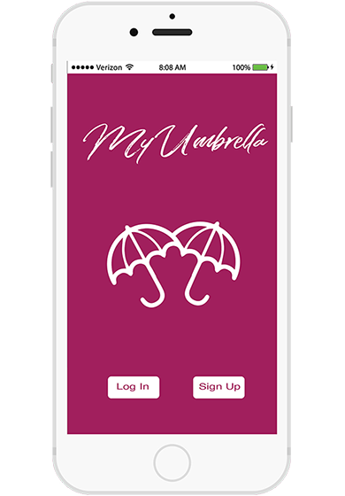 MyUmbrella App Screen